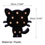 Caixa leve da noite plástica bonito super do diodo emissor de luz do gato