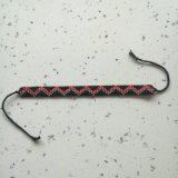 Богемский народных моды изящные стеклянные браслеты Hand-Woven икры валик клея