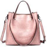 Senhora Mala Sacola grande PU Crossbody Bag