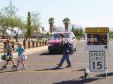 Signaux de limite de vitesse clignotant de la zone scolaire LED