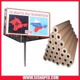 고품질 박판으로 만들어진 코드 PVC Frontlit Sf550 500d*500d 9*9 440GSM