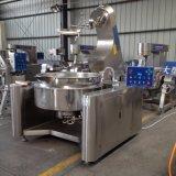 Gás comercial da capacidade elevada aquecido cozinhando a chaleira com misturador