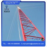 Torre galvanizada do aço do mastro do indivíduo de uma comunicação de WiFi