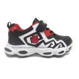 Zapatos de los deportes de los niños de la fábrica con precio de venta entero superior de la buena calidad del Velcro