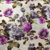 Цветы, используется для одежды, 120 г/кв.м, 100%полиэстер, распечатать ткань