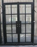 Venda a quente de aço de ferro portas frontais principal porta francês 60X96