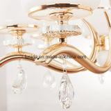 贅沢な現代青銅色の真鍮のガラス吊り下げ式の軽いガラス銅のシャンデリアライト
