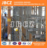 Giuntura d'acciaio del tondo per cemento armato della costruzione di Dextra BS4449 nell'accoppiamento