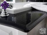 Encimera china negra moderna del granito para el cuarto de baño con 1200*600m m