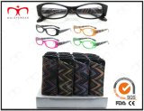 Pouch (MRP21661)를 가진 숙녀 Fashion Plastic Eyewear Eyewearframe Reading Glasses