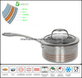 Composé 5 Ply Matériaux Sauce Pan Sc165