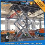 Grande capacidade tipo tesoura hidráulica Vertical do carro elevador