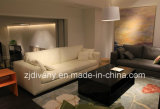 Sofà moderno del cuoio del salone di stile regolato (D-72-B)