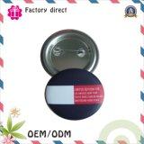 La divisa del botón del estaño, hecha de la hojalata, los diseños modificados para requisitos particulares se valida