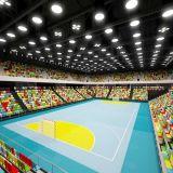 2018 baratos venta caliente de balonmano de PVC pisos deportivos