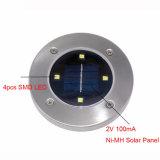 La energía solar 4LED de tierra Lights 2V 100mA, el ahorro de energía