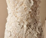 Vestidos de casamento Strapless Z2061 do laço de Veneza dos vestidos nupciais da sereia