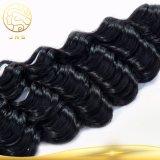 安い卸し売りバージンのRemyの女性の人間の毛髪のよこ糸100%の加工されていない卸し売り未加工自然なインドのバージンの人間の毛髪