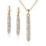 Nueva moda Perfume Botella de cristal de diseño conjunto de joyas de oro