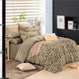 호화스러운 디자인에 의하여 인쇄되는 면 표범 침구 침대 덮개