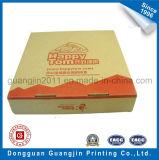 Het bruine Vakje van de Verpakking van het Voedsel van het Document van Kraftpapier Golf voor Pizza