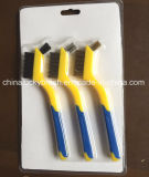 7inch Two Colour Plastic Handle Mini Wire Brush (YY-539)