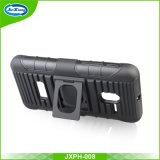 Heavy Duty de doble capa Combo caso de la cubierta de la pistolera con anillo para Alcatel 5015