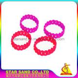 Braccialetto intrecciato silicone poco costoso di vendita caldo, braccialetti di desiderio, Wristband di gomma