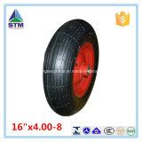 黒い鋼鉄縁の空気ゴム車輪