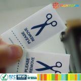 Tag do vestuário da freqüência ultraelevada RFID da MPE Class1 Gen2 da resistência de frição