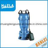 Wq seule phase de l'AC de la pompe d'eaux usées submersible électrique de pompe
