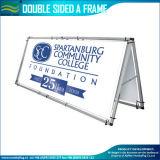 Dubbele Kant van het Aluminium van de kwaliteit de Draagbare een Tribune van de Banner van het Frame