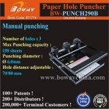 Boway Oficina Manual Folleto Note Book 150 hojas de papel de la máquina de perforación de agujeros de 3