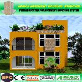 容易プレハブの家の低価格の泡のセメントの鉄骨構造インストールすれば