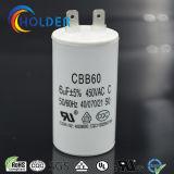 Бег конденсаторного двигателя водяной помпы Cbb60 и конденсатор старта для приборов