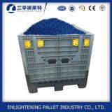 Caixa de pálete plástica de dobramento da alta qualidade de China grande com tampa