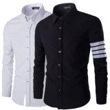 Chemise de robe mince d'ajustement chemise élégante de Mens de longue (A427)
