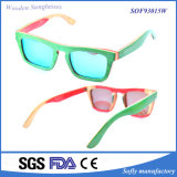 2017 moda Acyrlic patineta madera gafas de sol Gafas de sol polarizadas