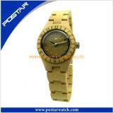 La montre-bracelet 100% en bois de nature pour le Mens avec de l'eau résistent