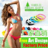Impresso anunciando a faixa de relógio do Wristband do silicone (RichgiftA102)