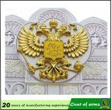 会社のロゴの金の金属の紋章