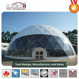 14m de diámetro de acero Jardín domo geodésico carpas / Metal domo geodésico de gases de efecto