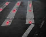 360 grados de plástico Solar LED parpadeante Camino Stud