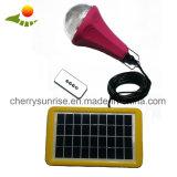 набор освещения миниых солнечных светлых наборов 2W солнечный приведенный в действие СИД малый домашний для крытой комнаты сарая