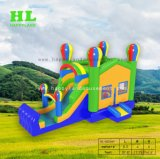 スライドを持つCastle Inflatable Bouncer Combo薄紫の優雅な王女