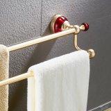 Cremagliera di tovagliolo di alluminio rossa dell'angolo della stanza da bagno di /Space degli accessori della stanza da bagno doppia