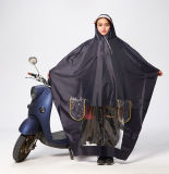 Unisex100% wasserdichter Belüftung-Regenmantel mit Hauben-Maske für Reiten