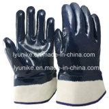 Масло для тяжелого режима работы доказательства нитриловые перчатки рабочие с покрытием