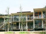 Casa de vacaciones móvil conveniente/chalet prefabricados del bajo costo/prefabricados