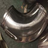 Coude Polished Grooved d'acier inoxydable de garnitures de pipe sanitaire de la LR d'extrémité